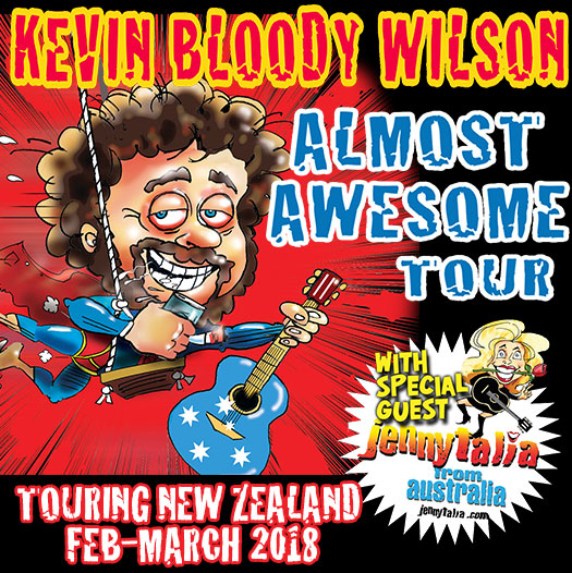 Kevin Bloody Wilson - Touring NZ 2018
