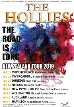 The Hollies The Road is Long Tour - Touring New Zealand February - March 2019