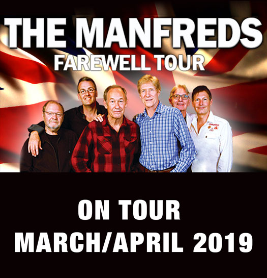 The Manfreds Farewell Tour touring New Zealand March/April 2019